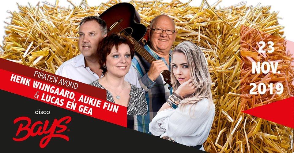 Piratenavond: Henk Wijngaard, Aukje Fijn & Lucas en Gea
