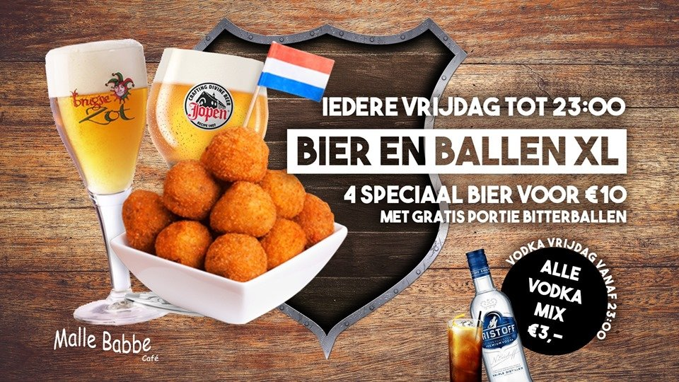 Bier en Ballen XL & Vodka Vrijdag