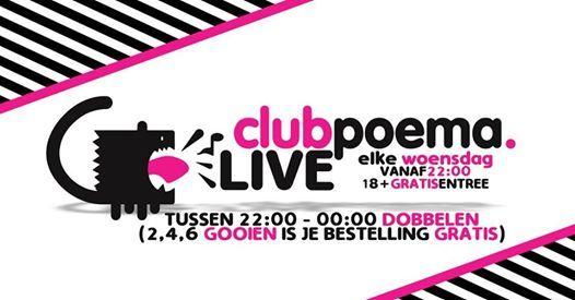 Club Poema LIVE! Elke Woensdag!