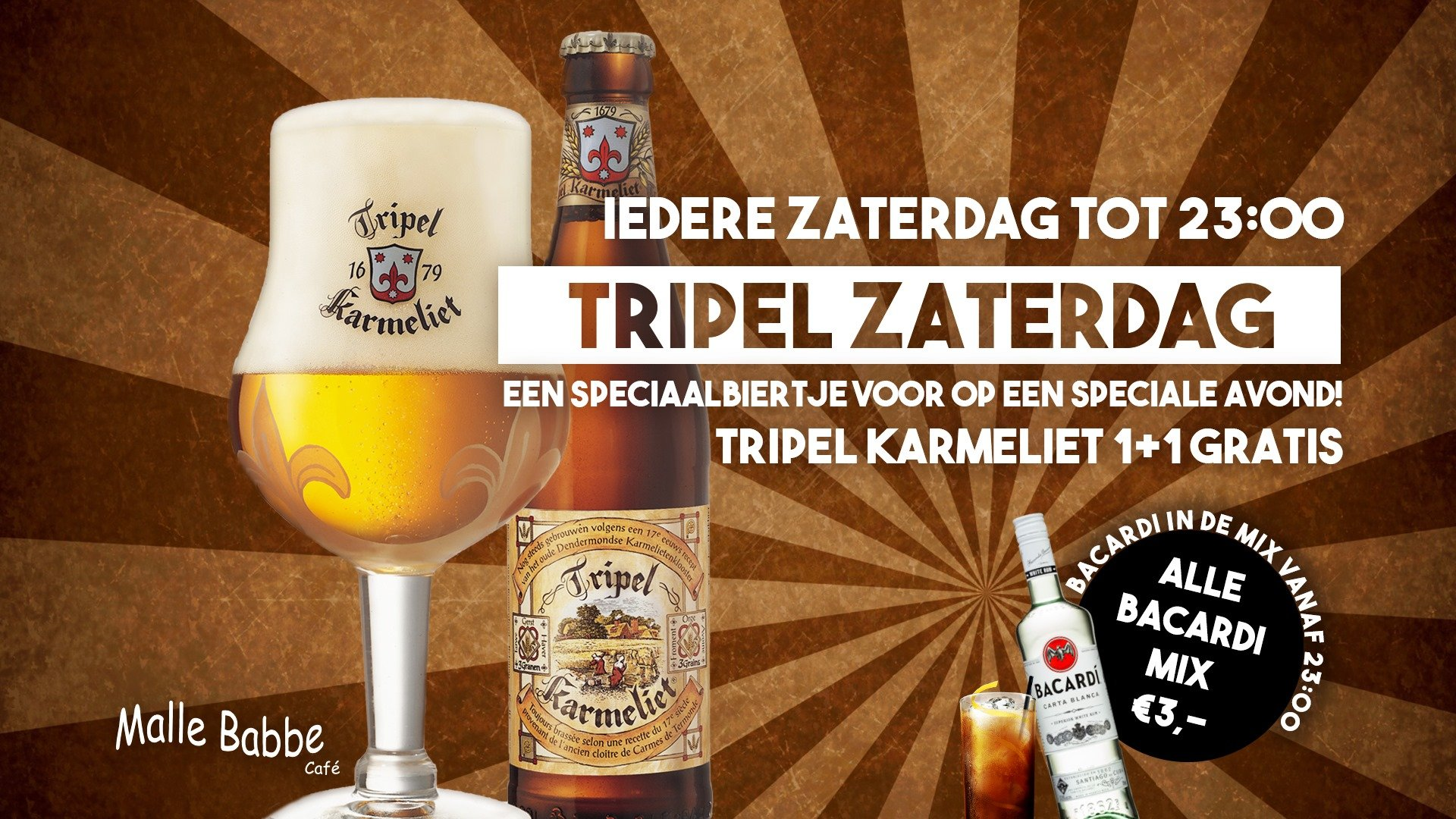 Tripel Zaterdag & Bacardi in de mix